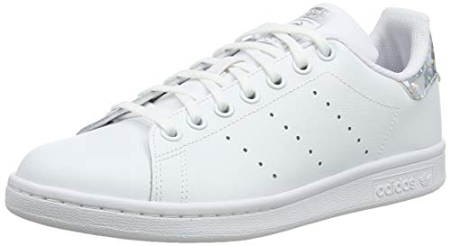 adidas Stan Smith J, Chaussures de Gymnastique Mixte Enfant, Blanc FTWR White/Core Black, 38 EU