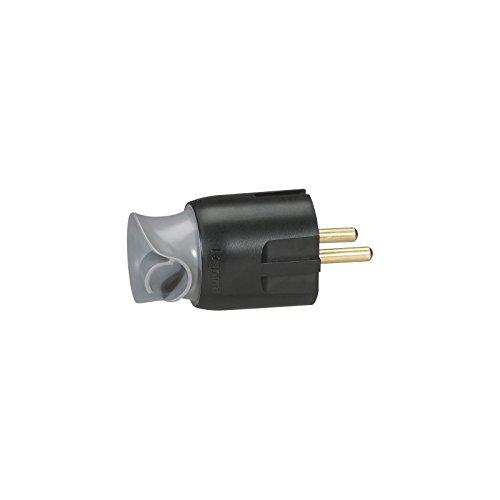 Legrand LEG93973spina 2P + T 16A plastica orientamento del cavo 360° Nero