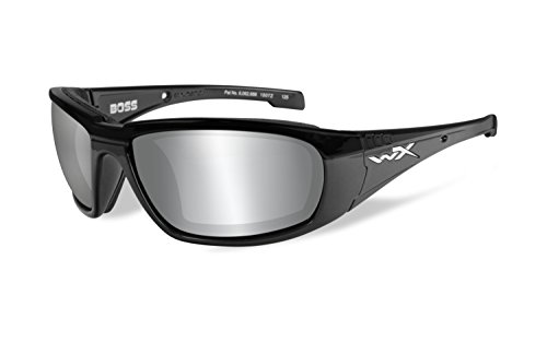 BOSS Silver Flash Grey - Gloss Black Frame - Zonnebril