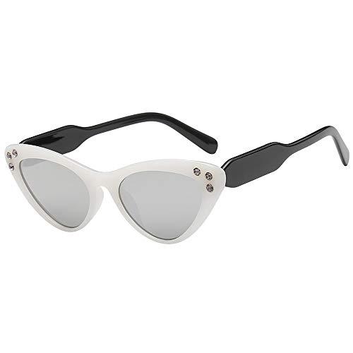 Hhyyq Cat Eye Schwarz Luxus Sonnenbrillen Frauen Berühmte Marke Retro Leopard Sonnenbrille Weibliche Große Katzenaugengläser Glasses Universal Colourful Triangular(B)