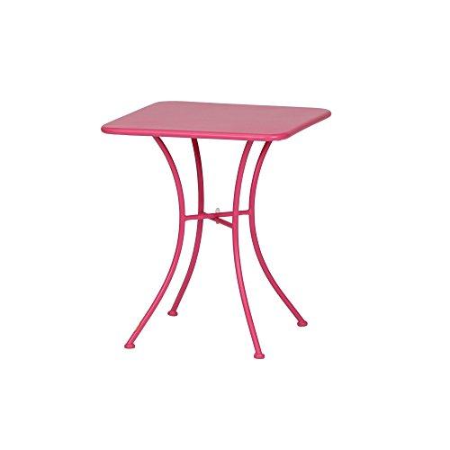 Siena Garden Tisch Maui, 60x60x72cm, Gestell: Stahl, pulverbeschichtet in matt pink, Fläche: matt...