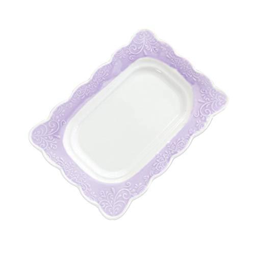 BESTONZON Beurrier en céramique avec Couvercle recouvert de Porcelaine avec Couvercle Violet