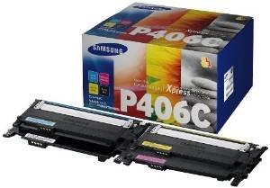 Preisvergleich Produktbild Samsung CLX 3305 Original Tonerkit CLT - K406S / ELS (schwarz) / CLT - C406S / ELS (cyan) / CLT - M406S / ELS (magenta) / CLT - Y406S / ELS (gelb) + 1.000 Blatt DIN A4 Laserpapier 80g/m²