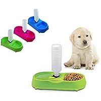 tradeshoptraesio® – Dispensador Agua Y Comida distribuidor para perro gato cuenco Agua comida ...