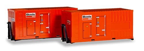Herpa 076890 - Juego de Accesorios (2 x 20 pies) Generador de Corriente Boels