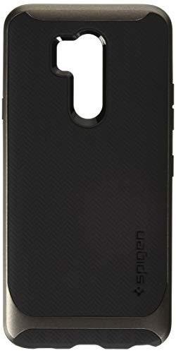 Spigen [Neo Hybrid] LG G7 ThinQ Hülle (A27CS23037) Doppelschichter Schutz 2-teilige Premium Handyhülle Silikon TPU Schale + PC Farbenrahmen Dual Layer Schutzhülle Für LG G7 Plus ThinQ Case [Gunmetal]