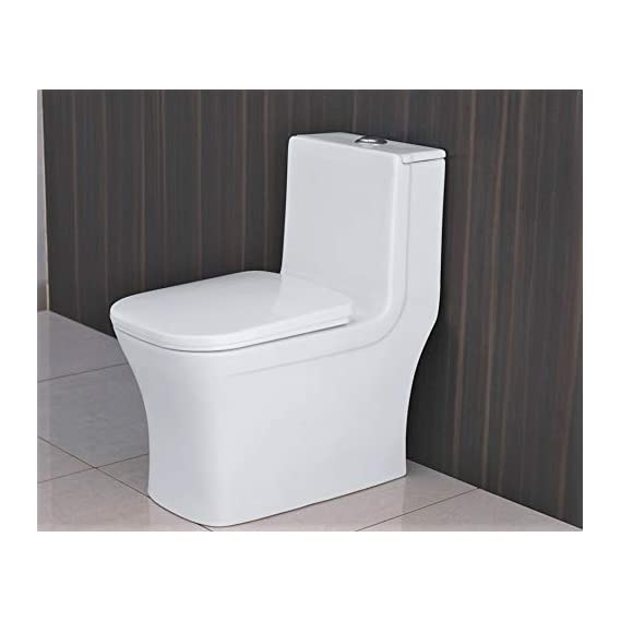 Ceramic Western One Piece Sest Model Water Closet Floor Mounted Square S Trap - White