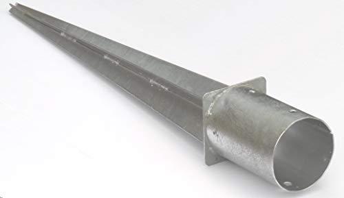 EXCOLO 100 mm rund Pfosten Träger Einschlag-hülse Bodenhülse Holz Pfosten Pfahl Zaun für Holzzaun Lamellenzaun.