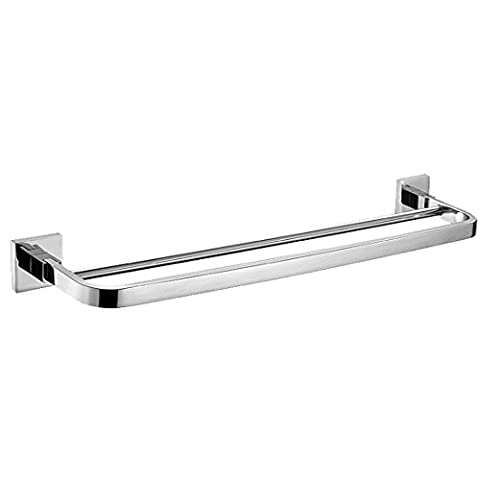 Weare Home Modern Style SUS304 Stainless Steel Wall Mount Polish Finish Bathroom Lavatory Double Towel Bar Bath Rack by Weare Home