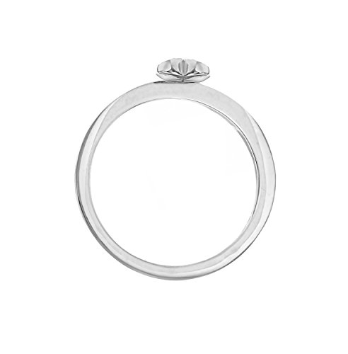 Carissima Gold - Bague Femme - Or rose 375/1000 (9 Cts) 1.14 Gr - Diamant Or blanc