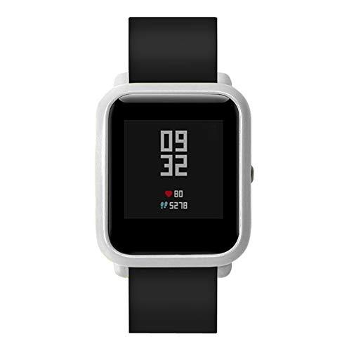 Vamoro Bunte PC-Hülle Schutzhülle für Xiaomi Huami Amazfit Bip Youth Watch(Silber)