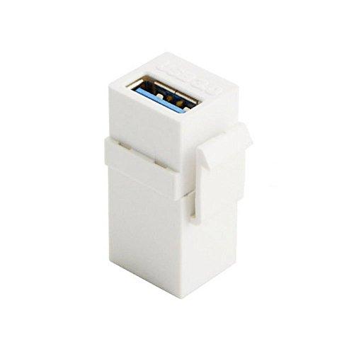 Weibliche Keystone Jack (Der USB 3.0 eine Frau zu einem weiblichen Verlängerungs Keystone Jack Koppler Adapter für Wandplatte Panel-USB-Kabel U3-259)
