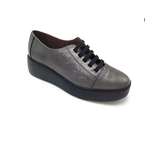 Wonders - A8838 Plataforma Zapato elásticos Plomo