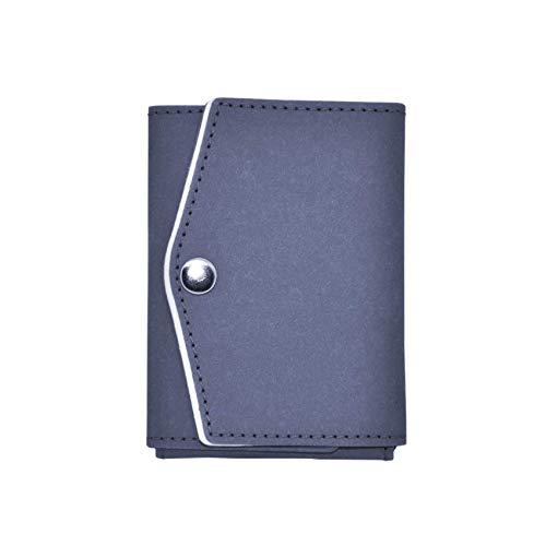 BORDERDOG - TRIPLE 2.0 - Mini Geldbeutel mit RFID-Schutz + Mit Münzfach (Kleingeldfach) aus Ökofreundlichem Material - Schlanke Geldbörse. Klein, dünn, robust wie Leder - Nachhaltig wie Kork und Vegan