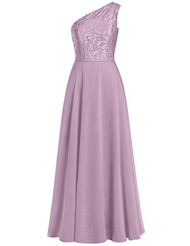 HUINI Damen Modern Kleid Dusty_Rose