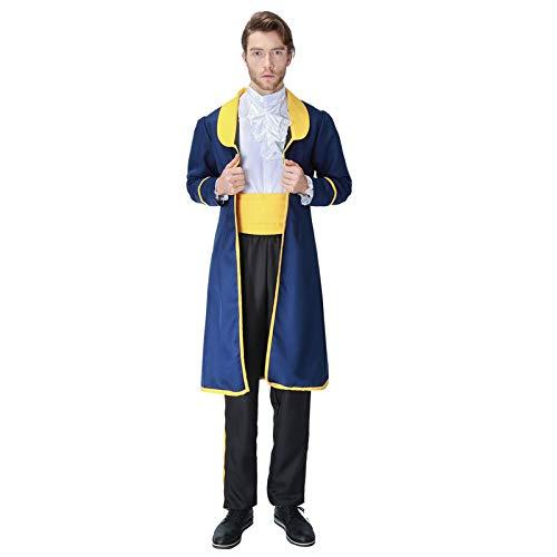 Prinz Kleid Diffuse Kleidung Anzug Rollenspiel Halloween Kostüm Party Film Kleidung,Blue-M