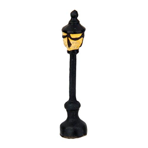 1x Straßenlaterne Rund Einzelne Lampe Landschaft Bonsai Puppenhaus Miniatur-Dekor - Landschaft Einzelne