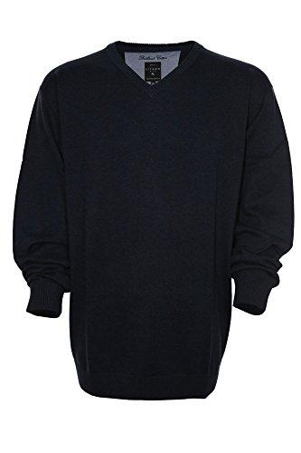 Kitaro Pullover Brilliant Cotton Herren Langarm Plusgröße Übergröße Dunkelblau