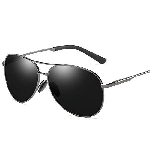 MoHHoM Sonnenbrille,Mode New Classic Polarisierte Sonnenbrillen Herren Retro Sonnenbrille Uv400 Gun Schwarz