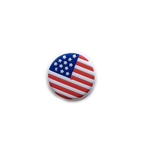 ouken National Flag Racket Vibration Absorber Silikon Squash-Schläger Dämpfer Stoßdämpfer-Schläger Tennis Stoßdämpfer 2 PC US