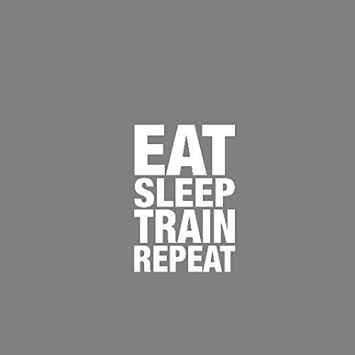 Eat Sleep Train Repeat - Herren T-Shirt Braun