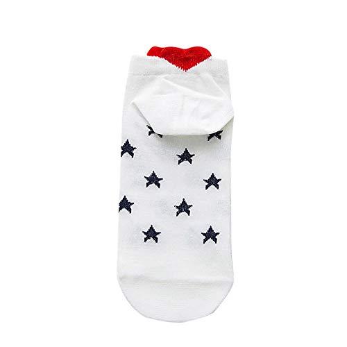 Frau Männer Arbeit Socken, Quaan Arbeit Herzförmig Baumwolle Liebe Mode Socke Gemütlich Kausal nähen Winter Warm Hausschuhe Niedlich Anti-Rutsch Mittel weich gemütlich Licht elastisch Deodorant