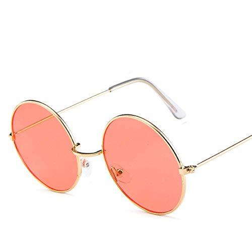 BJYG Sport-Sonnenbrille Bonbonfarbene runde Retro-Sonnenbrille Polarisierte Sonnenbrille Geeignet für Jungen und Mädchen Laufen, Reiten, Angeln Sonnenbrille (Farbe: Rot)