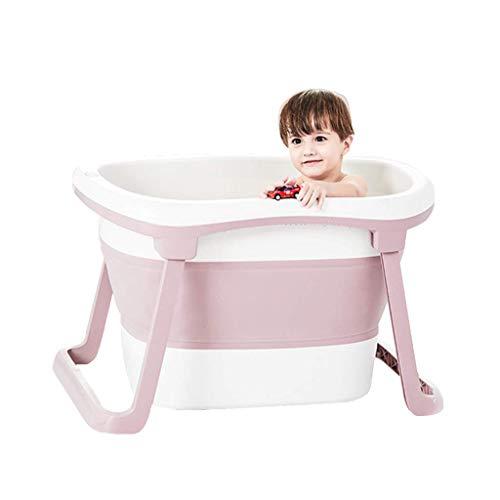 DSJMUY Bañera Plegable de plástico, bañera para bebés, bañera Plegable portátil, Plato de Ducha...