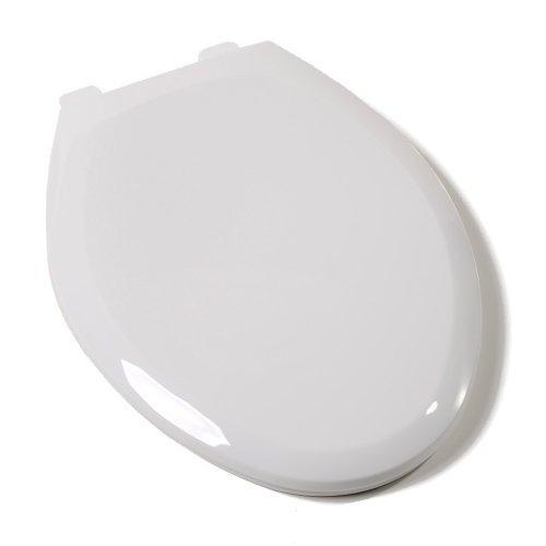 Comfort Seats C1B3E4S04 EZ Close Deluxe Plastic Elongated Toilet Seat, Cotton White by Comfort Seats