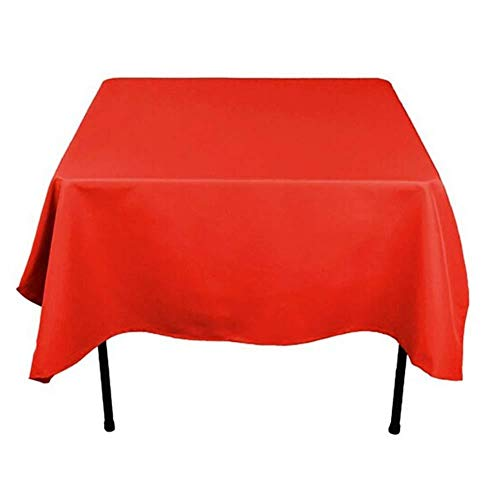 Dqmj tovaglie, tovaglie quadrate in poliestere tinta unita tovaglia lavabile antirughe grande per tavolo da buffet (colore : a, dimensioni : 200x200cm)