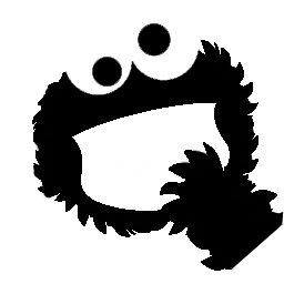 Cookie Monster–leicht anzuwenden Laptop Macbook und iPod Vinyl Aufkleber Spaß und Cool für DIY und Dekorationen der perfekte Geschenk für Kinder (Cookie Monster Dekorationen)