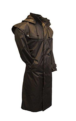 Walker & Hawkes - Veste longue Midland - style cape - capuche amovible/coutures étanches - nylon - Marron - M