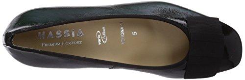 Hassia Verona, Weite H, Chaussures à talons - Avant du pieds couvert femme Noir - Schwarz (0100 schwarz)