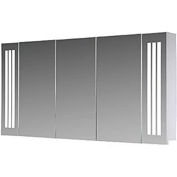 Lux-aqua Design Badezimmer Spiegelschrank mit LED Beleuchtung 120 ...