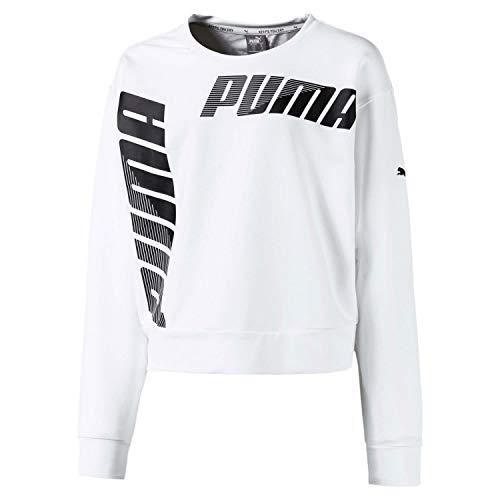 PUMA Mädchen Modern Sports Crew TR G Pullover, White, 152