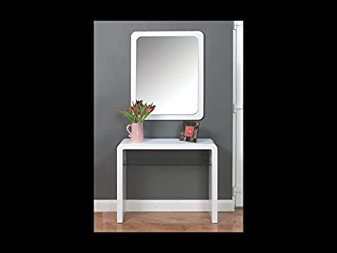 Atlanta White Console Hall Table With Glass Shelf - Living Room - Hallway Furniture by The One