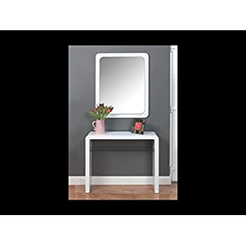 hall console table white. Atlanta White Console Table With Glass Shelf - Hall Living Room Furniture Hallway Dining
