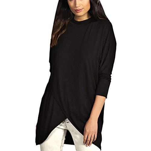 Deman outfit-Artistic9 Damen Mock Neck Pullover Pullover Shirts Langarm Wrap Tunika Tops Leichte Stretch Lose Sweatshirt Damen Herbst Casual Bluse Chic -