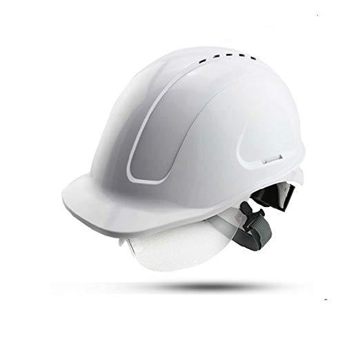 Jia He Helm Bau-Sicherheits-Helm-ABS-Hochspannungs-Isolierungs-Gurt-Schutzbrillen/Baustellen-Kollision/Elektriker/Bergmann-Schutzhelm @@ (Farbe : Weiß)