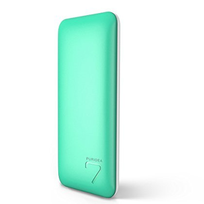 PURIDEA S5 Ultra Compact 7000mAh Caricabatterie Portatile Universale USB (2.1A Ingresso Li-polimero) Batteria Esterna per smartphone Samsung Galaxy iPad iPhone Asus Pad Sony Tablet PC, (1, blu)