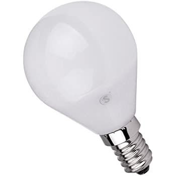 Lámpara Bombilla ESFERICA LED 5W E14,Color de Temperatura 3000K Cálida ,Dimensiones: Ø45X80mm