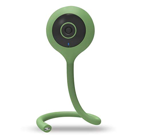 Angelbliss Baby Monitor Video Realtime 1080HD WiFi Telecamera,Regolabile per culla,con sensore di Umidità e Temperatura,Allarme de Pianto e Movimento,Archiviazione SD-Card,Applicazione iOS&Android