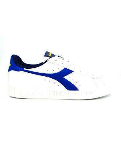 Diadora Game P, Sneaker a Collo Basso Unisex - Adulto, Bianco (BCO/Blu Micro/Giallo Vibrante), 43 EU