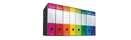 Raccogliotre Essentials Confezione da 6pz Esselte 390775050 Formato Protocollo Dorso 8 cm per Raccoglitore Blu Cartone