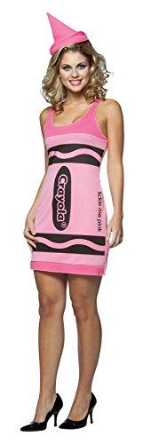Erwachsene Crayon Pink Für Kostüm - Crayola-Kleid, rosa