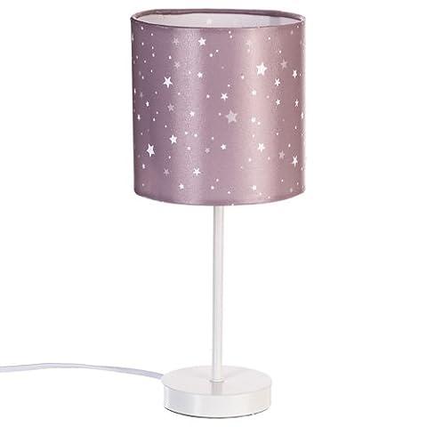Lampe de chevet abat jour couleur taupe
