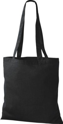 ShirtInStyle Premium Stoffbeutel Baumwolltasche Beutel Shopper Umhängetasche viele Farbe black