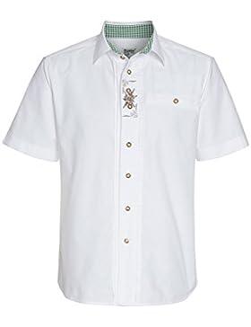 Distler Trachtenhemd IM Landhausstil, Herren Herren-Hemd,Hemd,Trachten-Hemd,Weißes Hemd,