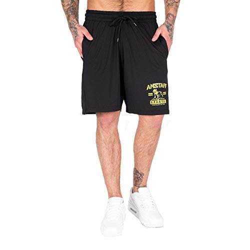 Amstaff Männer Shorts Kurze Hose Herren Pants Streetwear Fitness Sport Schwarz L