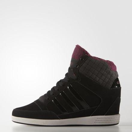 adidas - Hi-Tops - Super Wedge Schuh - Core Black - (8) (Adidas-hi-top Schuhe Frauen)